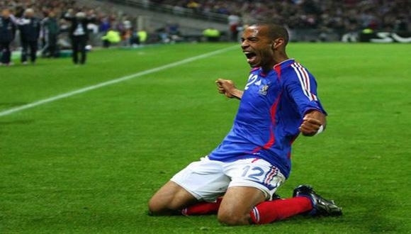 Henry celebra un gol durante un partido contra Lituania en la Eurocopa de 2008. Foto: Archivo.