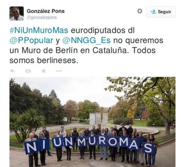 Tuit de González Pons.