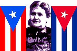 Lola Rodríguez de Tió. Ilustración de ROBERTO FIGUEREDO.