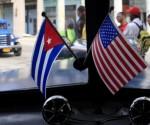 Banderas de Cuba y Estados Unidos