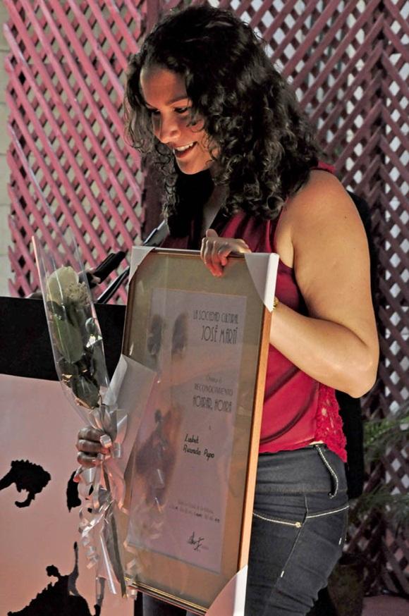 Entrega de Premios Sociedad Cultural Jose Marti.