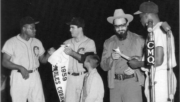 De izquierda a derecha Rafael Noble, Camilo Pascual, Guerra Matos y Miñoso.