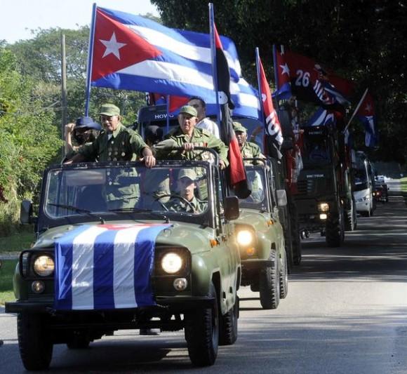 Recorrido de la Caravana de la Libertad, en la provincia de La Habana, el 08 de enero de 2015.AIN FOTO/Abel PADRÓN PADILLA