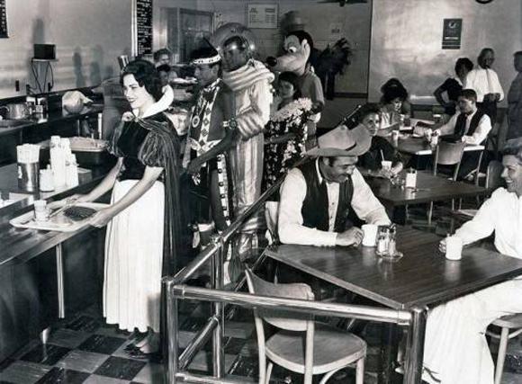 Comedor de los trabajadores de Disney en 1961