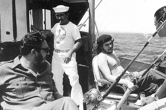 El Che Guevara y Fidel Castro pescando, 1960