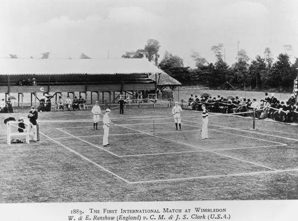 El primer partido internacional en Wimbledon, 1883