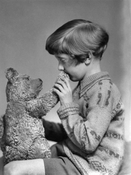 El verdadero Winnie the Pooh y Christopher Robin, 1928