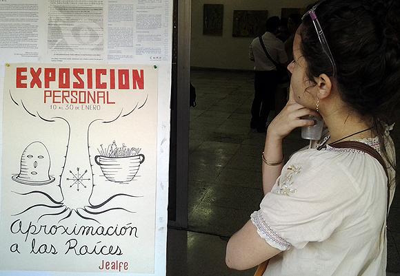 "Exposición de pintura ""Aproximación a las raices"". Foto: L Eduardo Domínguez / Cubadebate"