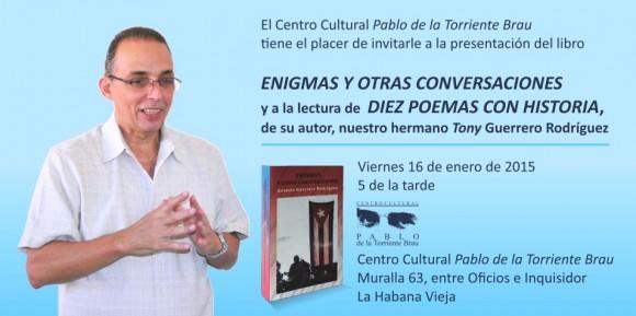 Invitación Presentacion de Tony Guerrero