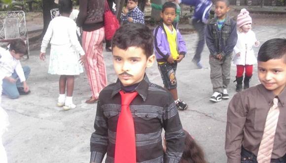 El pequeño Felipe Ramón