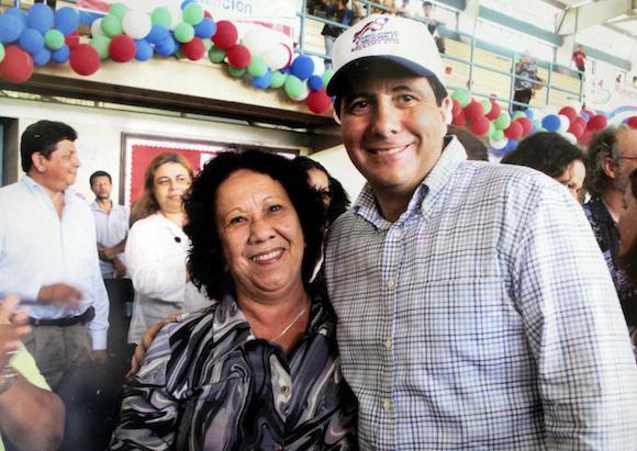 Con el Presidente Martín Torrijos.