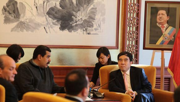 Maduro se reúne con directiva del Banco de Desarrollo de China 5