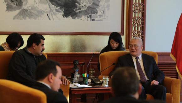 Maduro sostuvo encuentro con el presidente de la Corporación Nacional de Petróleo (CNPC) 1