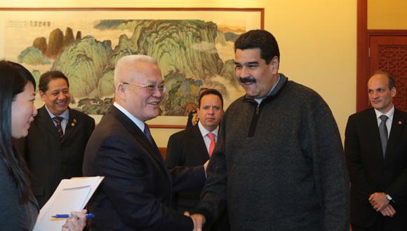 Maduro sostuvo encuentro con el presidente de la Corporación Nacional de Petróleo (CNPC).