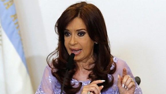 """""""Nadie desde otro poder puede decirle a la presidenta que se calle, porque hablar voy a hablar todas las veces que quiera"""", dijo Fernández. Foto: Reuters."""