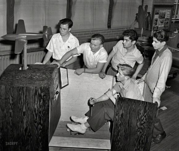Un simulador de vuelo en 1942