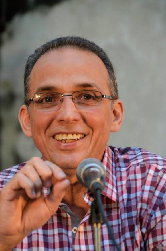 Antonio Guerrero en el Centro Pablo, de La Habana. Foto: Kaloian/ Facebook