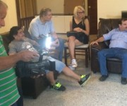 El encuentro de los Cinco con Maradona y Víctor Hugo. Foto: Diario Popular