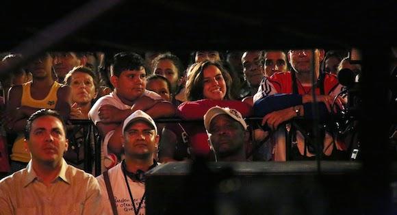 Cristian Castro en el concierto de Silvio Rodríguez, en el barrio Zamora, de La Habana. Foto: Silvio Rodríguez/ Segunda Cita