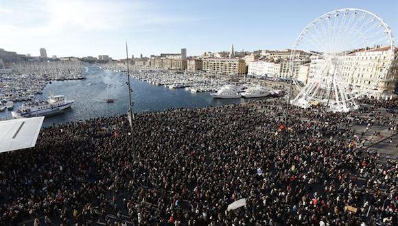 Más de 700.000 personas se manifiestan en Francia a favor de la libertad de expresión. Foto: Europapress.