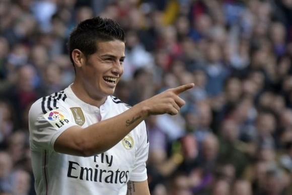 James Rodríguez anotó uno de los goles del Madrid.