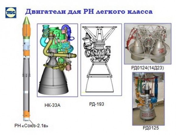 El RD-193 sustituirá al NK-33 en el cohete Soyuz-2-1V (Novosti Kosmonavtiki).