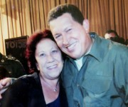 Con Hugo Chávez en Caracas.