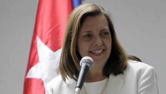 Roberta Jacobson, subsecretaria de Estado. Rueda de prensa al concluir la reunión para el restablecimiento de las relaciones diplomáticas Cuba-EEUU. Foto: Ismael Francisco/ Cubadebate