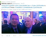 "Antonio González Rodiles junto al senador estadounidense John McCain en el ""International Security Fórum"" de Halifax"
