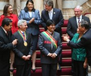 toma de posesión de Evo Morales 12