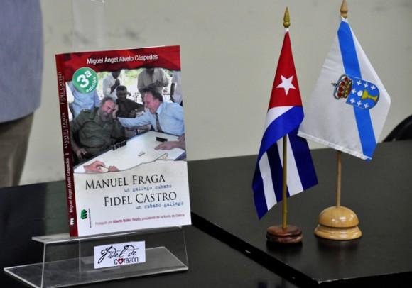 """Presentación del libro """"Manuel Fraga, un gallego cubano, Fidel Castro, un cubano gallego"""" de Miguel Ángel Alvelo Céspedes. Cuba.Foto:"""