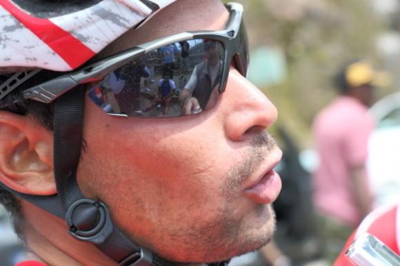 José Mojica, el ganador del ascenso a la Gran Piedra. Clásico Ciclístico Gtnmo-Hab. Foto: Otmaro Rodríguez / Cubadebate