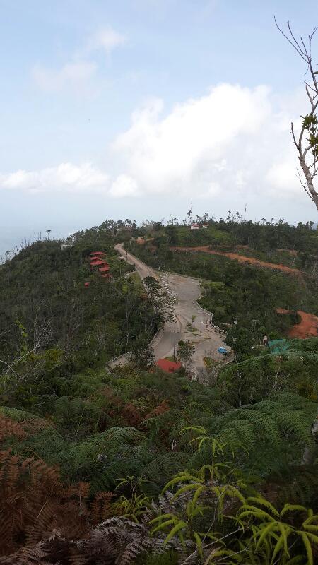 200 metros antes de llegar a la cumbre de La Gran Piedra en Santiago de Cuba. foto herolt.alvare