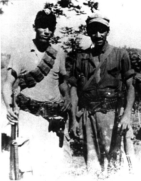 Pedrín y Larrea en mayo de 1958.