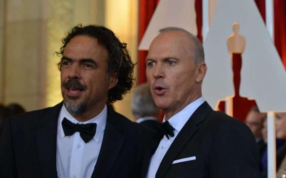 Alejandro González Iñárritu y Michael Keaton. Foto: El País