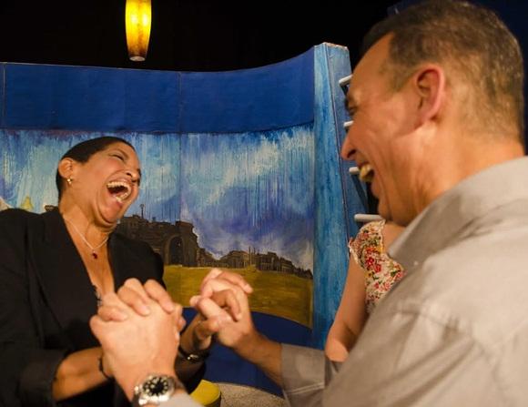 Antonio Guerrero con Marta Campos. Foto: Claudio Pelaez Sordo