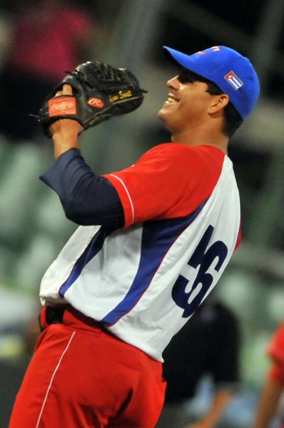 Cuba Campeón de la Serie del Caribe 2015. Yosvani Torres fue el pitcher ganador del juego decisivo. Foto: Ricardo López Hevia / enviado Especial de Granma / Cubadebate
