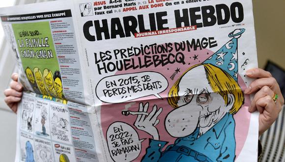 Un ejemplar de Charlie Hebdo. Foto tomada de nbcnews.com