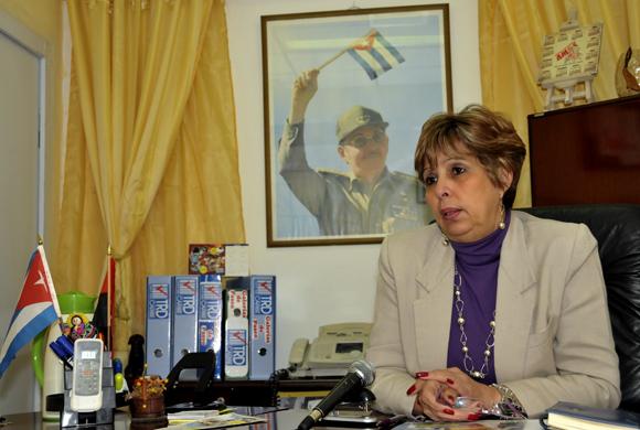 Alicia García Leyva, Directora de la División Grandes Centros de TRD. Foto: Ladyrene Pérez/ Cubadebate.