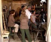Fernado Pérez durante la filmación de la película.