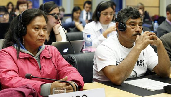 Hilda Legideño y Bernabé Abraján. Foto: EFE.