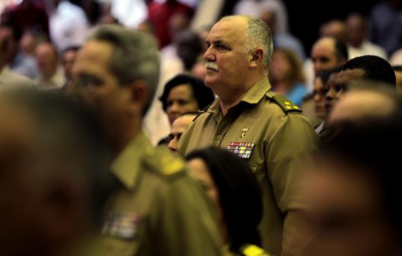 El Héroe de la República de Cuba Orlando Cardoso Villavicencio en el acto. Foto: Ladyrene Pérez/ Cubadebate.