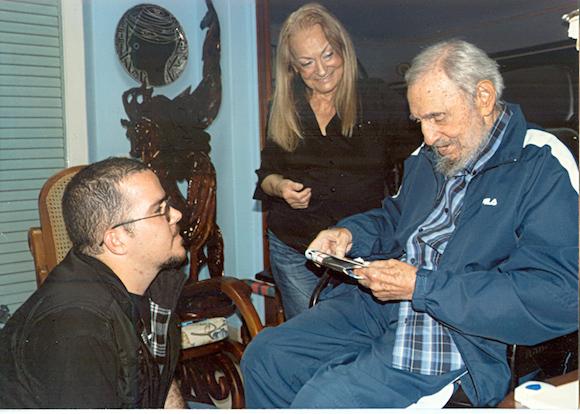 Randy Perdomo García y Fidel Castro. Foto: Cubadebate