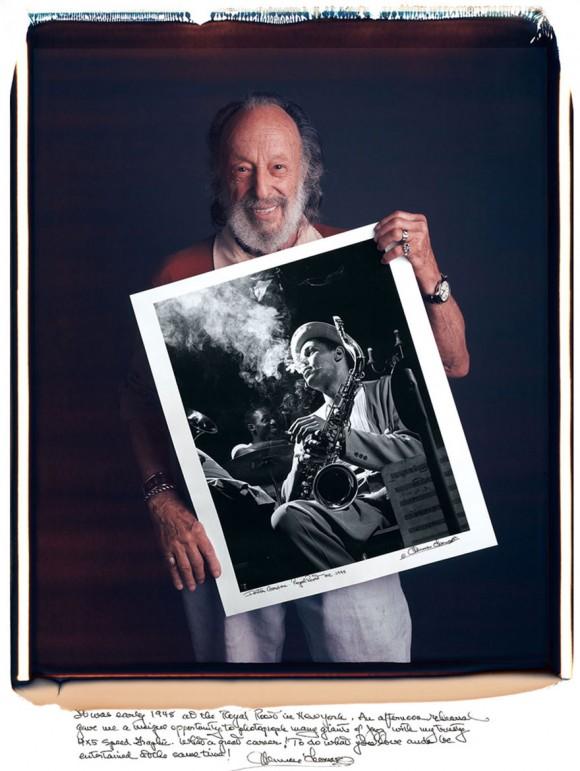 Herman Leonard: A principios de 1948 en el Royal Roost de Nueva York. Un ensayo vespertino me dio la oportunidad única de fotografiar a muchos gigantes del jazz.