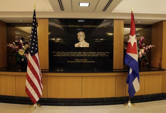 En el Departamento de Estado. Foto: Ismael Francisco/ Cubadebate