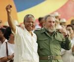 Fidel y Mandela en La Habana, el 27 de julio de 1991
