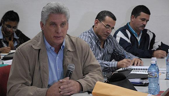 Miguel Díaz Canel en Santa Clara. Foto: CMHW