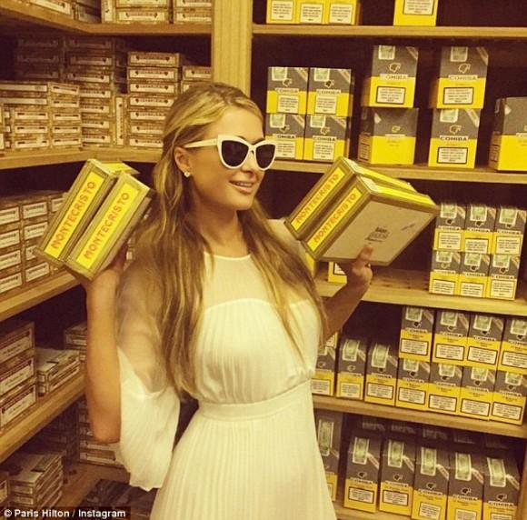 Una foto de Paris Hilton en Instagram. Foto: Daily Mail