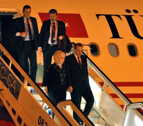 Recep Tayyip Erdogan, Presidente de la República de Turquía, a su arribo al Aeropuerto Internacional José Martí, en La Habana, Cuba, el 10 de febrero de 2015.  AIN   FOTO/Marcelino VÁZQUEZ HERNÁNDEZ.