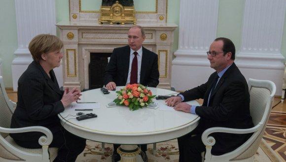 Termina sin acuerdo reunión entre Putin, Merkel y Hollande